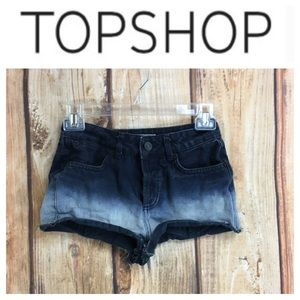 💸TopShop Blue Petite cutoff short in size 2